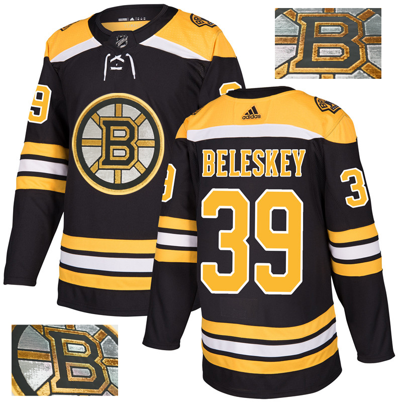 Bruins 39 Matt Beleskey Black With Special Glittery Logo Adidas Jersey