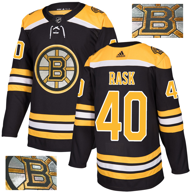 Bruins 40 Tuukka Rask Black With Special Glittery Logo Adidas Jersey