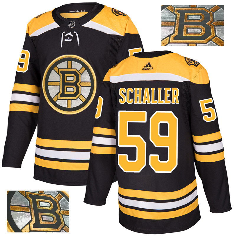 Bruins 59 Tim Schaller Black With Special Glittery Logo Adidas Jersey