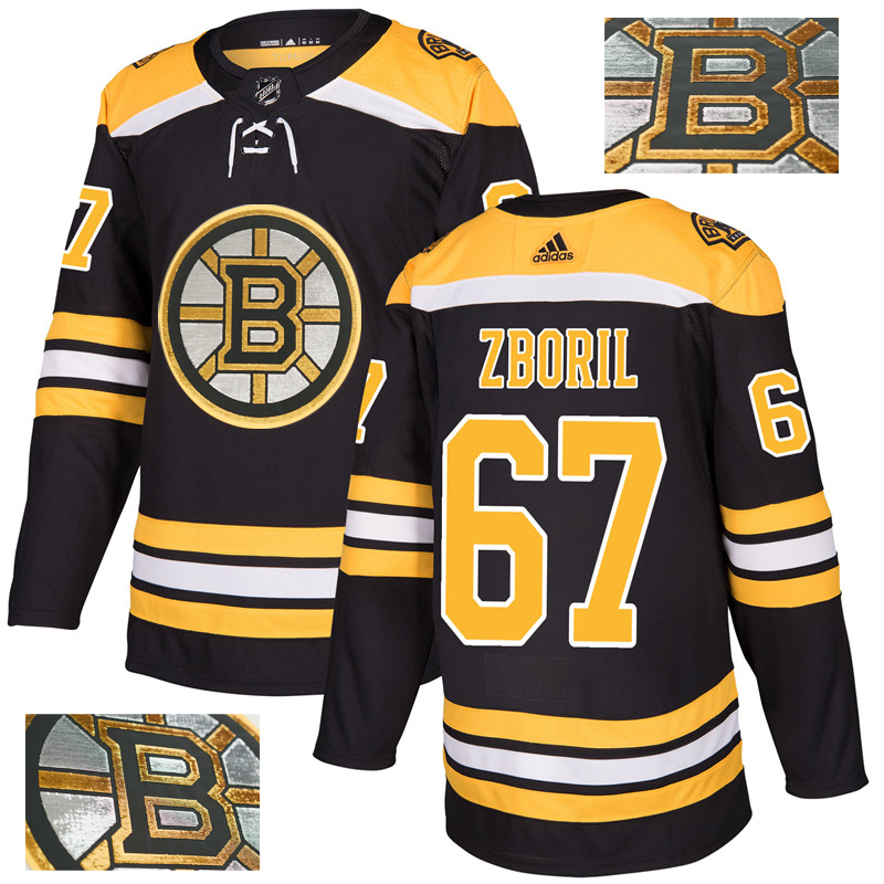 Bruins 67 Jakub Zboril Black With Special Glittery Logo Adidas Jersey