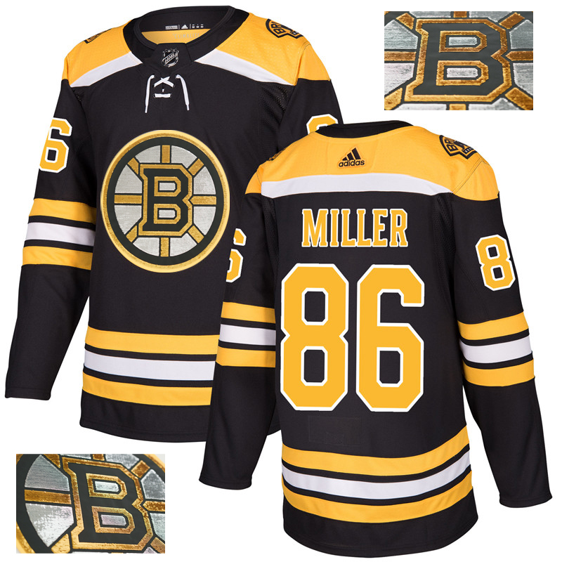 Bruins 86 Kevan Miller Black With Special Glittery Logo Adidas Jersey