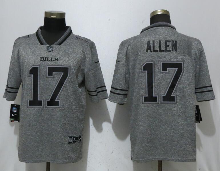 Nike Bills 17 Josh Allen Gray Gridiron Gray Vapor Untouchable Limited Jersey