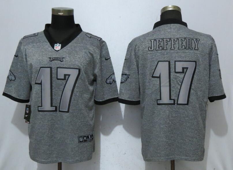 Nike Eagles 17 Alshon Jeffery Gray Gridiron Gray Vapor Untouchable Limited Jersey
