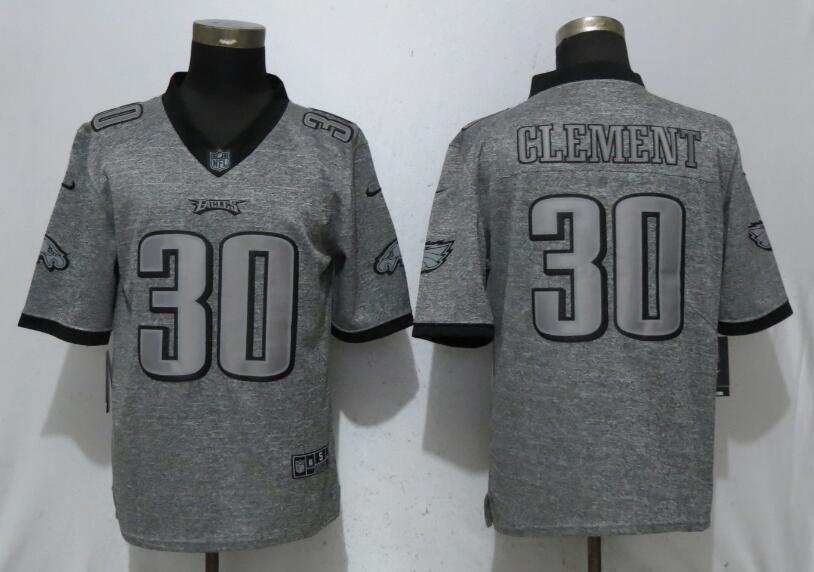Nike Eagles 30 Corey Clement Gray Gridiron Gray Vapor Untouchable Limited Jersey