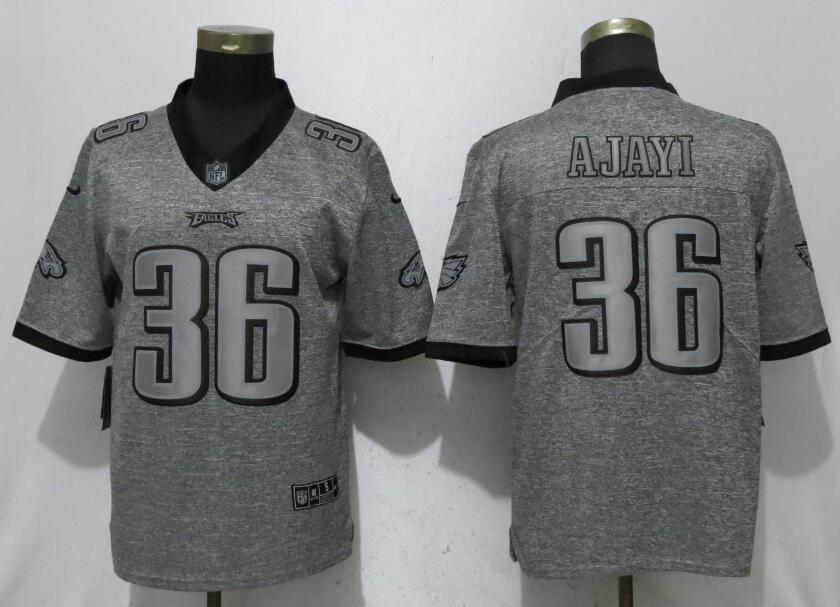 Nike Eagles 36 Jay Ajayi Gray Gridiron Gray Vapor Untouchable Limited Jersey