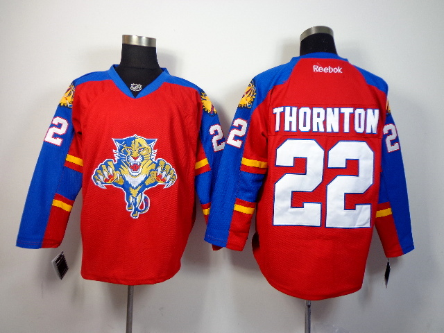 Panthers 22 Thornton Red Jerseys