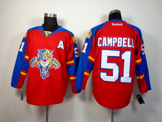 Panthers 51 Campbell Red Jerseys