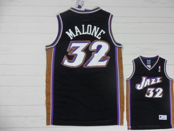 Jazz 32 Malone Black New Revolution 30 Jerseys