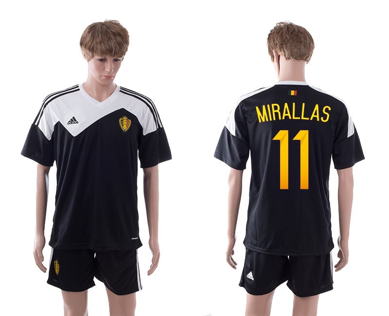 2014-15 Belgium 11 Mirallas Away Jerseys