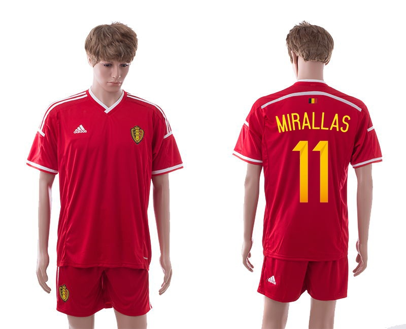 2014-15 Belgium 11 Mirallas Home Jerseys