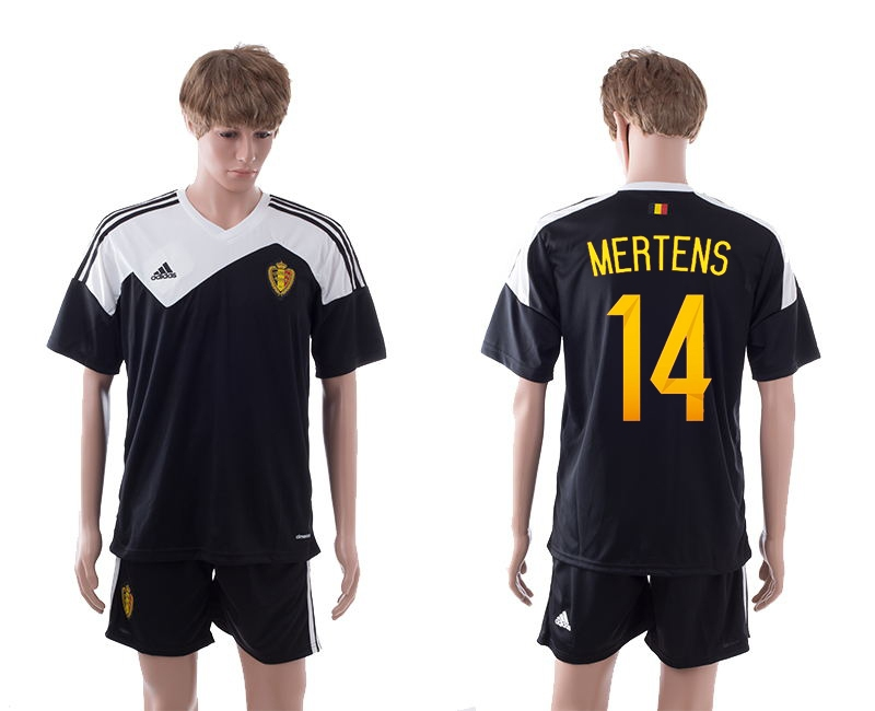2014-15 Belgium 14 Mertens Away Jerseys