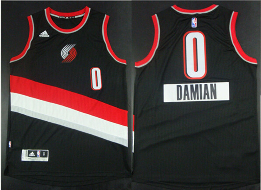 Blazers 0 Damian lillard Black 2014-15 Christmas Day Swingman Jerseys
