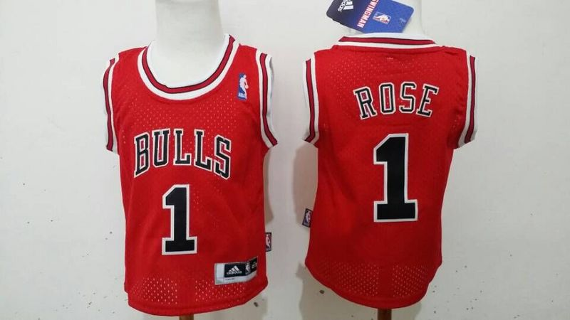 Bulls 1 Derek Rose Red Toddler Jersey