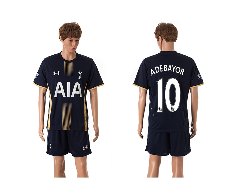 2014-15 Tottenham Hotspur 10 Adebayor Away Jerseys