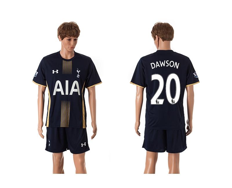 2014-15 Tottenham Hotspur 20 Dawson Away Jerseys