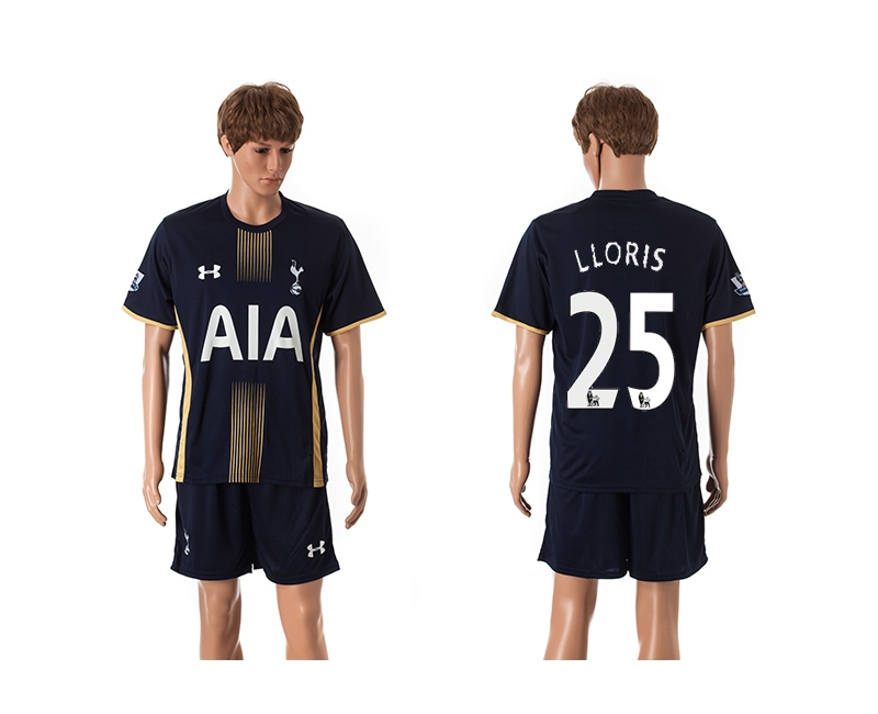 2014-15 Tottenham Hotspur 25 Lloris Away Jerseys