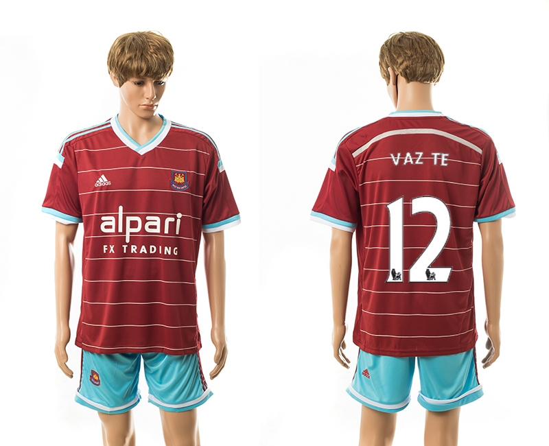 2014-15 West Ham United 12 Vaz Te Home Jerseys