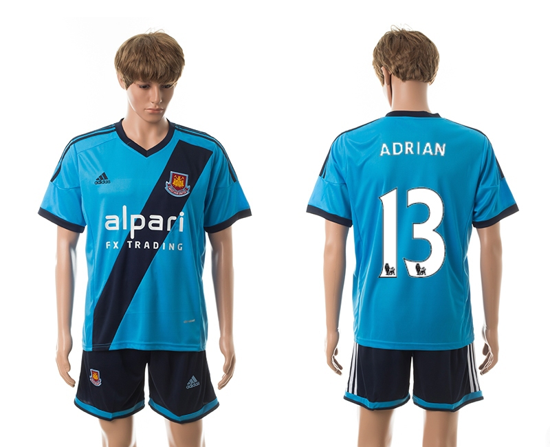 2014-15 West Ham United 13 Adrian Away Jerseys