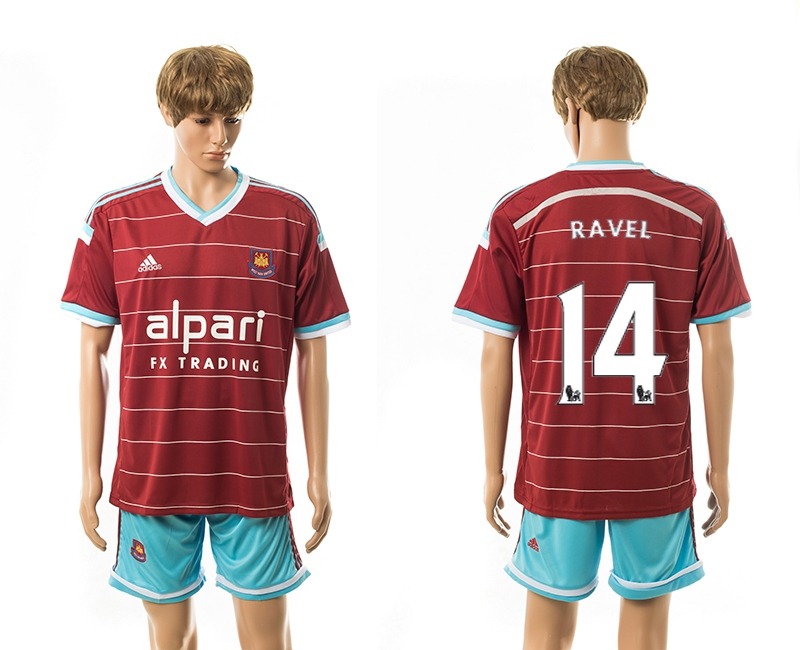 2014-15 West Ham United 14 Ravel Home Jerseys