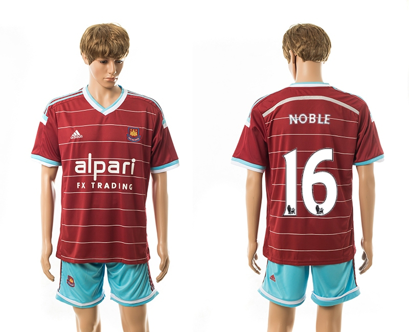 2014-15 West Ham United 16 Noble Home Jerseys