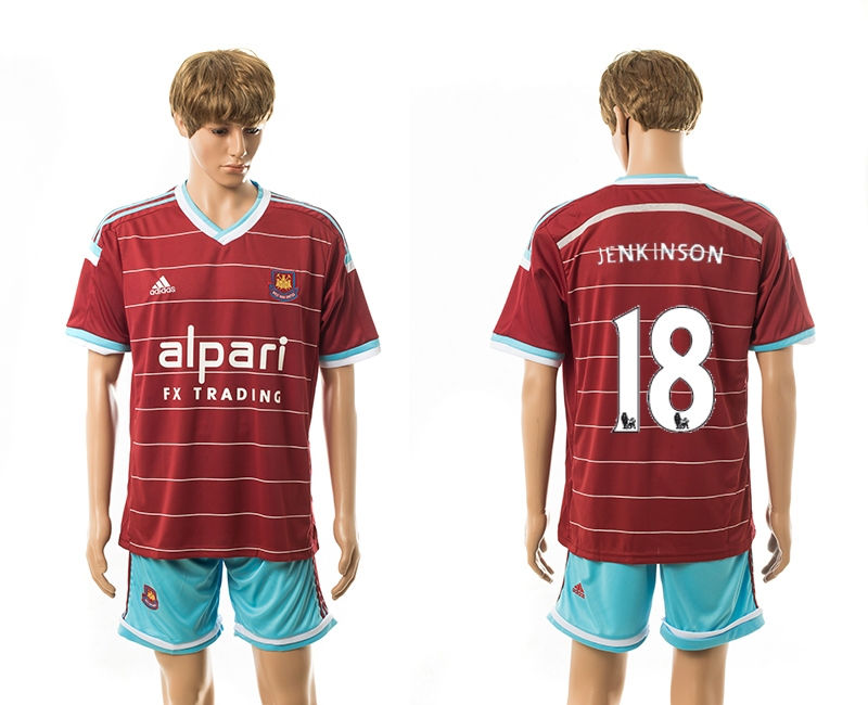 2014-15 West Ham United 18 Jenkinson Home Jerseys