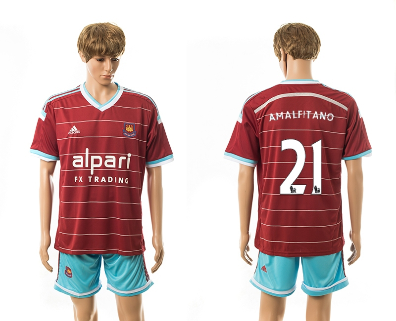 2014-15 West Ham United 21 Amalfitano Home Jerseys
