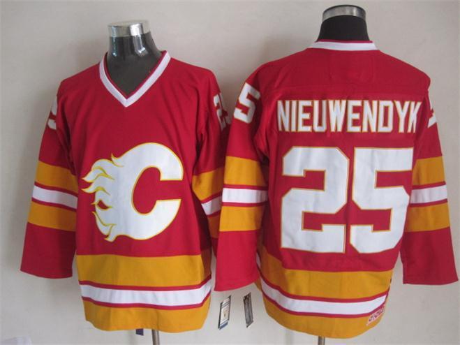 Flames 25 Nieuwendyk Red CCM Jerseys