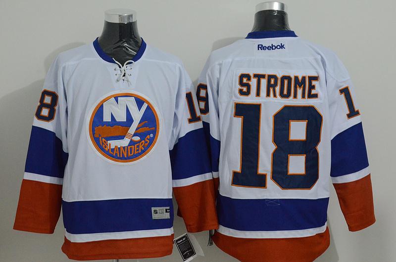 Islanders 18 Strome White Reebok Jersey