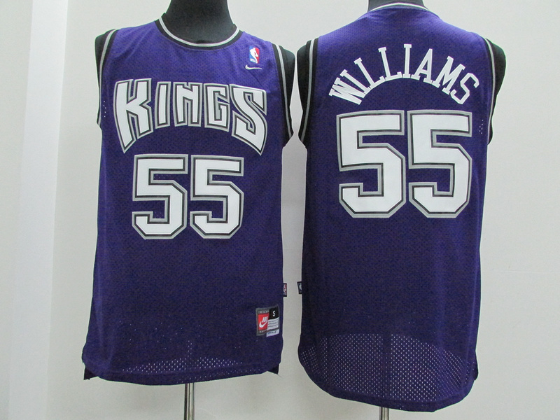Kings 55 Williams Purple New Revolution 30 Jersey