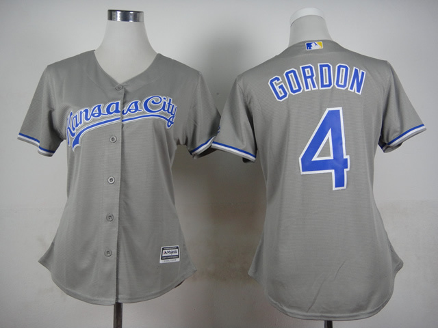 Royals 4 Gordon Grey Women New Cool Base Jersey