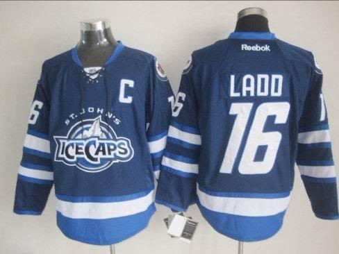 St. John's IceCaps 16 Ladd Blue Reebok Jersey