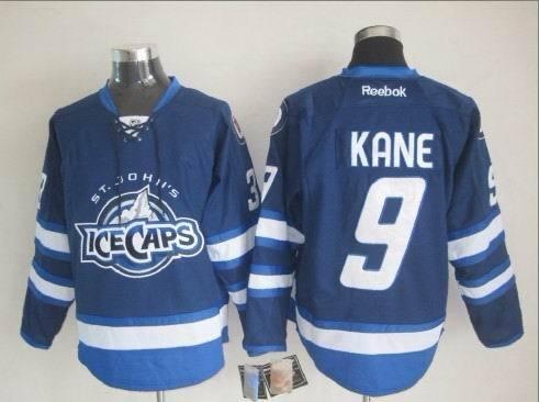 St. John's IceCaps 9 Kane Blue Reebok Jersey