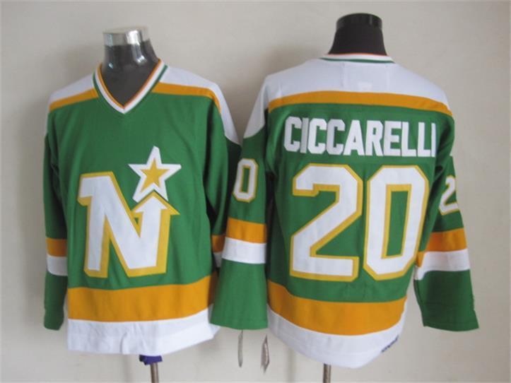 Stars 20 Ciccarelli Green CCM Jersey