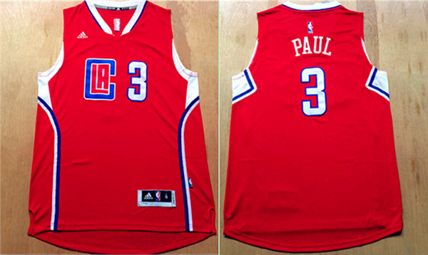 Clippers 3 Chris Paul Red 2015 New Rev 30 Jersey