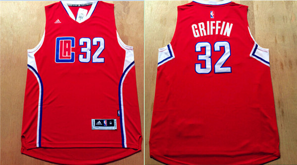 Clippers 32 Blake Griffin Red 2015 New Rev 30 Jersey
