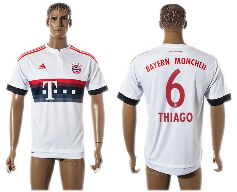 2015-16 Bayern Munchen 6 THIAGO Away Thailand Jersey
