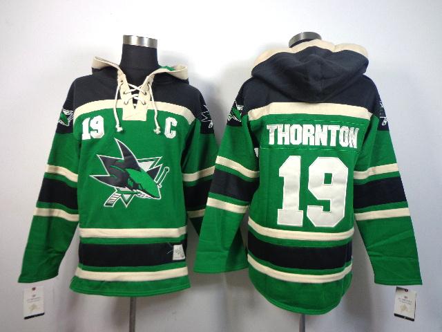 Sharks Green Hooded Jerseys