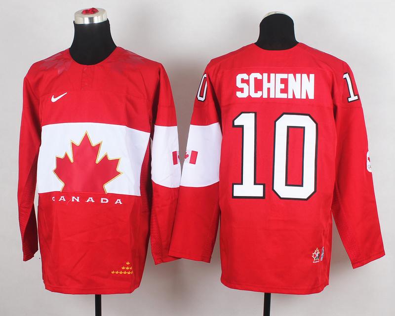 Canada 10 Schenn Red 2014 Olympics Jerseys