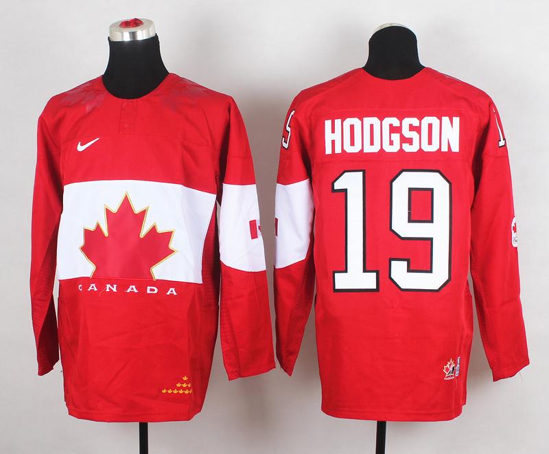 Canada 19 Hodgson Red 2014 Olympics Jerseys