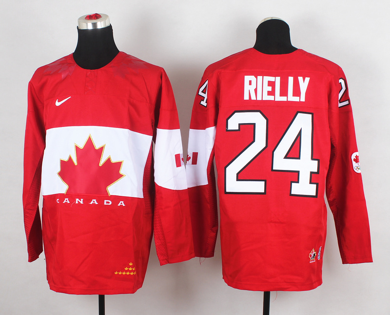 Canada 24 Rielly Red 2014 Olympics Jerseys