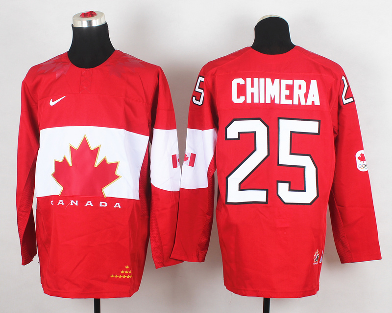 Canada 25 Chimera Red 2014 Olympics Jerseys
