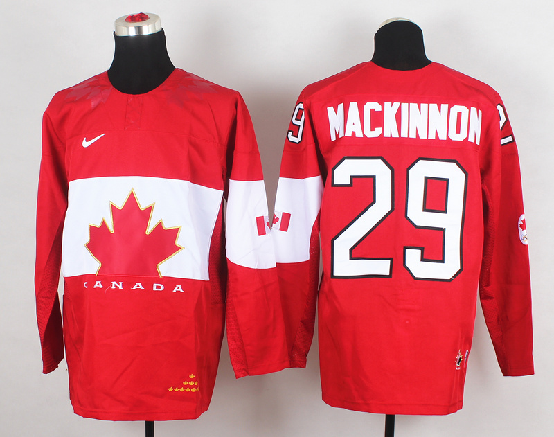 Canada 29 Mackinnon Red 2014 Olympics Jerseys