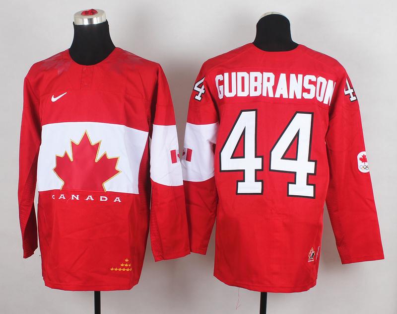 Canada 44 Gudbranson Red 2014 Olympics Jerseys