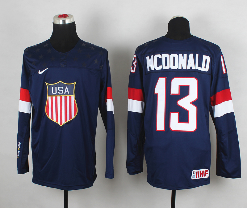 USA 13 McDonald Blue 2014 Olympics Jerseys