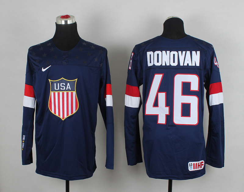 USA 46 Donovan Blue 2014 Olympics Jerseys
