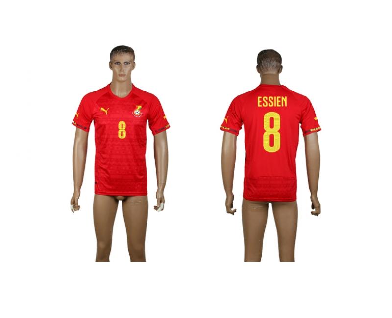 Ghana 8 Essien 2014 World Cup Away Thailand Jerseys