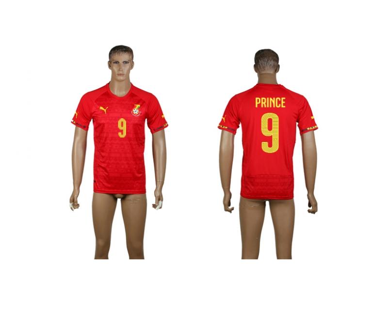 Ghana 9 Prince 2014 World Cup Away Thailand Jerseys