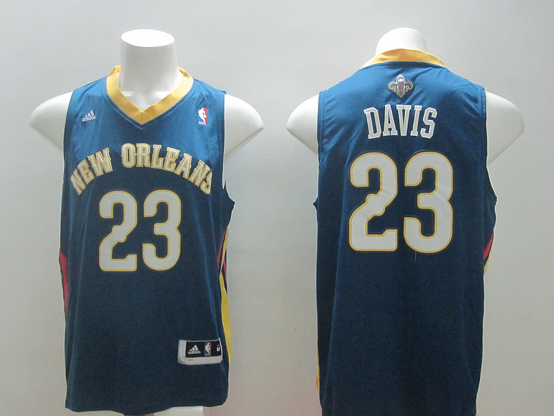 Pelicans 23 Davis Blue New Revolution 30 Jerseys