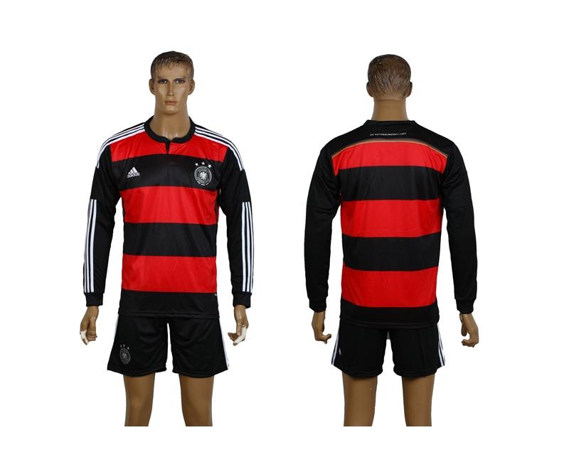 Germany 2014 World Cup Away Long Sleeve Soccer Jerseys