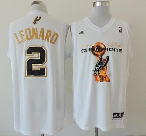 Spurs 2 Leonard White 2014 Champions Jerseys